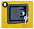 Flammable Safety Cabinets | PADDLE HANDLE LATCH